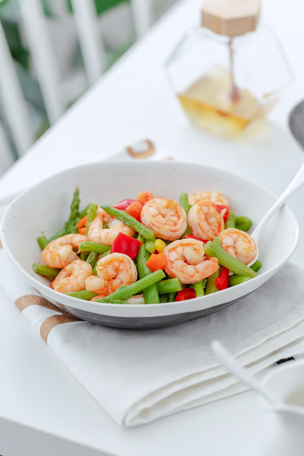 减肥减脂的芦笋虾仁这么做,也太好吃了!!的做法