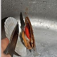 蒜蓉粉丝蒸扇贝的做法图解2
