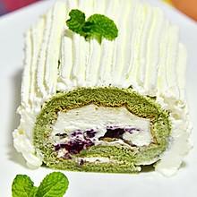 绿罗裙(无油不开裂的抹茶蛋糕卷)