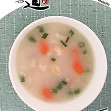 夏季必吃  虾仁蔬菜粥