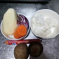 土豆米饭蔬菜饼~满满的满足感的做法图解1