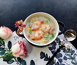 五彩•虾粥的做法