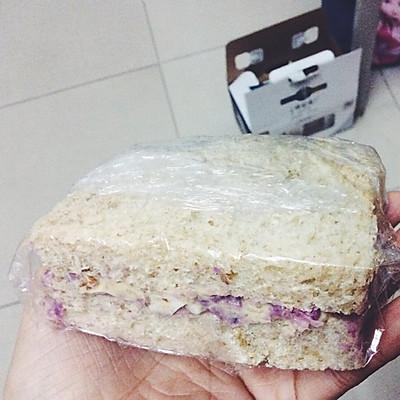 宿舍版--紫薯鸡蛋三明治