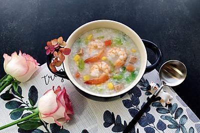 五彩•虾粥