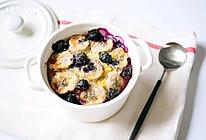 快手低卡早餐蓝莓香蕉烤燕麦的做法
