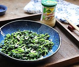 解暑神器-辣根菠菜的做法
