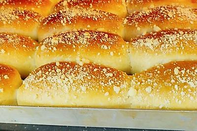 酥粒奶排面包