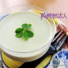 DIY下午茶——抹茶豆乳布丁