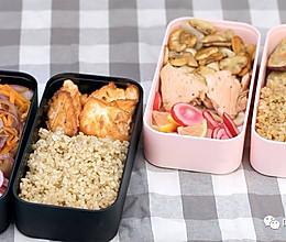 健康便当21(香煎三文鱼+洋葱圈蛋饼+柠檬渍水萝卜)的做法
