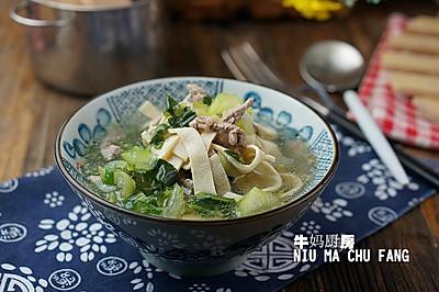 千张牛肉青菜汤
