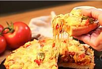 9寸鲜虾培根披萨(手揉面团)的做法