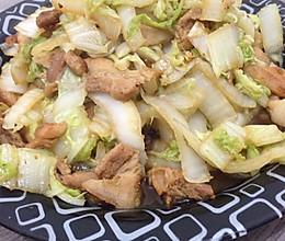 五花肉炒大白菜----家常版的做法