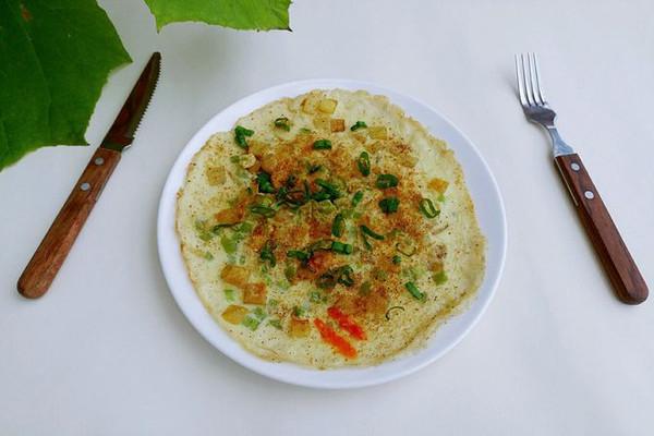 青葱胡椒铃蛋饼的做法
