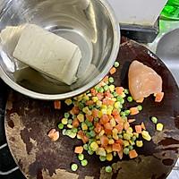 减脂快手菜——烤箱版豆腐杂蔬丸的做法图解1
