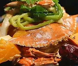 南瓜焗螃蟹的做法