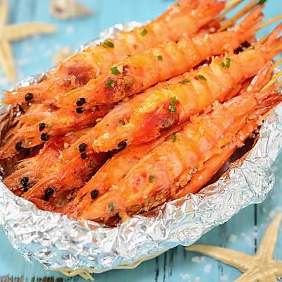 夏日撸串喽!洞庭盐焗串烤虾