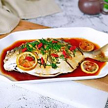 原味鲜蒸金鲳鱼#好吃不上火#