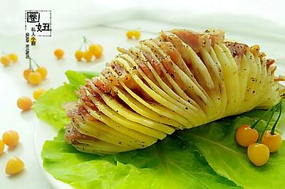 风琴土豆#美的微波炉菜谱#