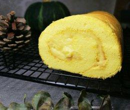 低卡南瓜蛋糕卷(内附无油低卡南瓜卡仕达酱做法)的做法