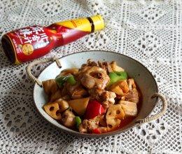 #豪吉川香美味# 麻辣鸡块炒莲藕的做法