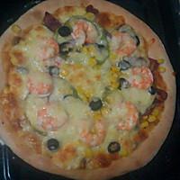 鲜虾腊肠披萨