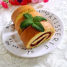草莓果酱蛋糕卷