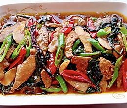 【创意小厨娘】血皮菜炒猪肝——鲜嫩美味,酸辣爽口,特别下饭!的做法