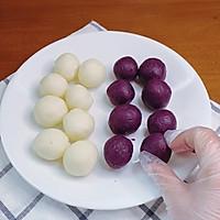 奶香紫薯山药糕的做法图解5