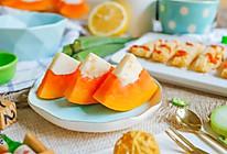 木瓜牛奶冻~宝宝辅食的做法