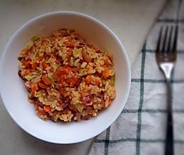番茄五色炒饭的做法