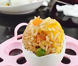 咸鸭蛋熏肉糯米饭的做法