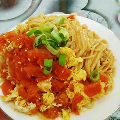 番茄鸡蛋炒面