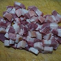 五花肉烧干豆角的做法图解2