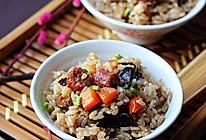 香菇腊肠焖饭的做法