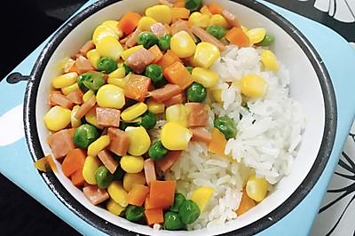 寶寶青豆紅蘿蔔焗飯