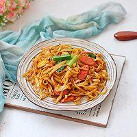 #快手又营养,我家的冬日必备菜品#快手炒面条的做法图解9