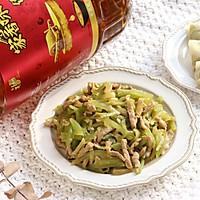 #福气年夜菜#清爽好吃的莴苣炒榨菜肉丝的做法图解12