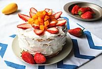 草莓裸蛋糕#有颜值的实力派#的做法