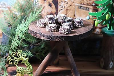 圣诞树桩饼干