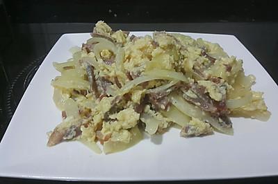 義燒洋蔥抄蛋
