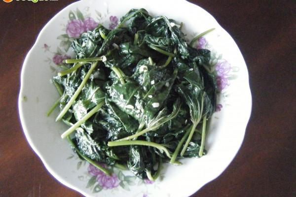 清炒蒜茸地瓜叶的做法