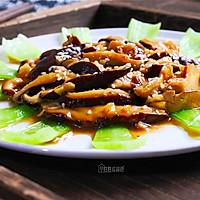 #一道菜表白豆果美食# 高颜值的香菇青菜的做法图解8