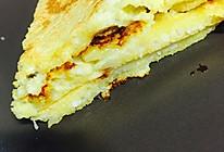 减肥营养餐—香蕉玉米面米酒鸡蛋饼的做法