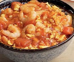 番茄虾仁盖饭的做法