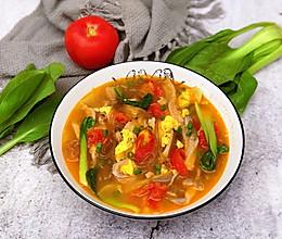 #洗手作羹汤#番茄蘑菇鸡蛋汤的做法