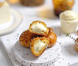 圣诞节大家都爱吃的小甜点:咸甜奶酪泡芙#今天吃什么#的做法