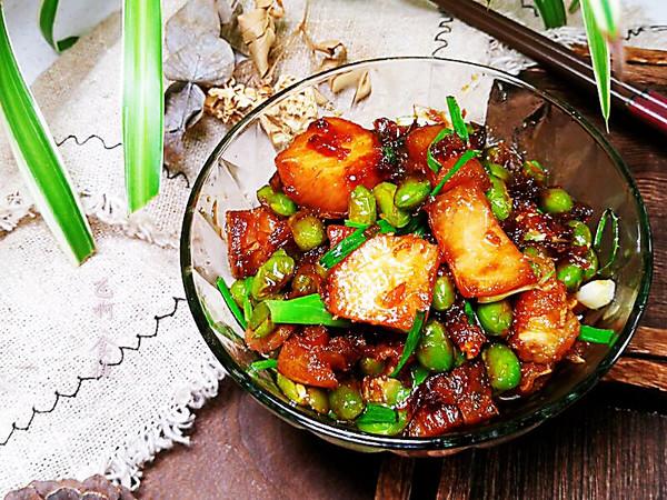 咸青鱼烧毛豆的做法