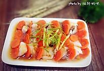 胡萝卜蒸鳕鱼的做法