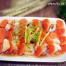 胡萝卜蒸鳕鱼