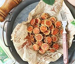 追剧小零食 豆皮香肠卷的做法